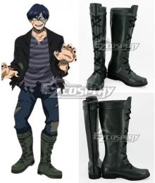 My Hero Academia Boku no Hero Akademia Tenya Iida Halloween Deep Grey Shoes Cosplay Boots