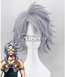 My Hero Academia Boku no Hero Akademia Tetsutetsu Tetsutetsu Silver Grey Cosplay Wig