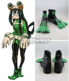 My Hero Academia Boku No Hero Akademia Tsuyu Asui Black Green Cosplay Shoes