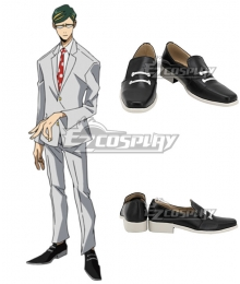 My Hero Academia Mirai Sasaki Sir Nighteye Black Cosplay Shoes