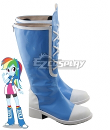 My Little Pony Equestria Girls Rainbow Dash Blue Shoes Cosplay Boots