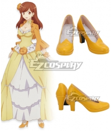 My Next Life as a Villainess: All Routes Lead to Doom! Mary Hunt Yellow Cosplay Shoes