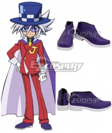 Mysterious Joker Kaitou Joker Purple Cosplay Shoes