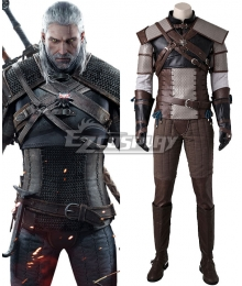 The Witcher 3 Wild Hunt Geralt of Rivia Cosplay Costume - No Boots