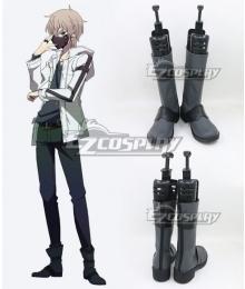 Naka no Hito Genome [Jikkyochuu] Nakanohito Genome Zakuro Oshigiri Black Shoes Cosplay Boots