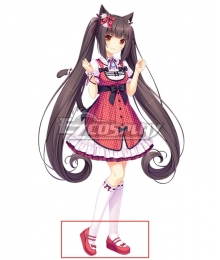 Nekopara Chocola Red White Cosplay Shoes