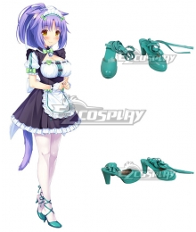 Nekopara Cinnamon Green Cosplay Shoes