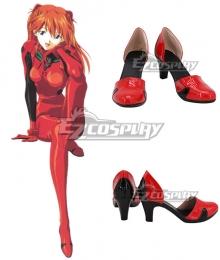 Neon Genesis Evangelion EVA Asuka Langley Sohryu Red Cosplay Shoes  - New Edition