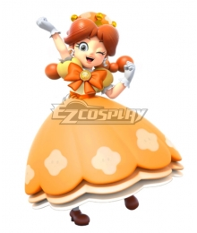 New Super Mario Bros. U Deluxe Daisyette Princess Daisy Cosplay Costume