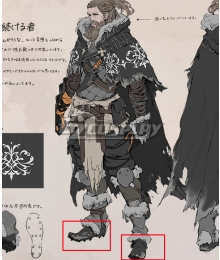 NieR Re[in]carnation Reincarnation Brave Mountain Black Cosplay Shoes