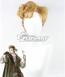 Octopath Traveler Alfyn Greengrass Golden Cosplay Wig