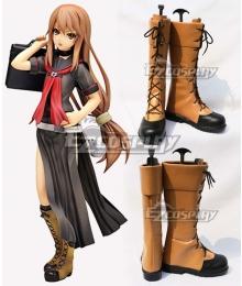 Okami-san and Her Seven Companions Ryoko Okami Brown Shoes Cosplay Boots