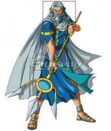 Olympus Guardian Poseidon Blue Cosplay Wig