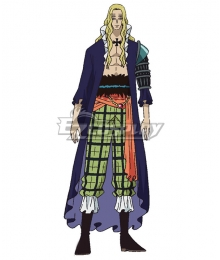 One Piece Basil Hawkins Blue Cosplay Costume