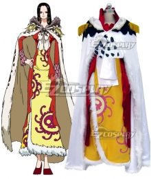 One Piece Boa Hancock Battle of Marineford Yellow Dress Cosplay Costume