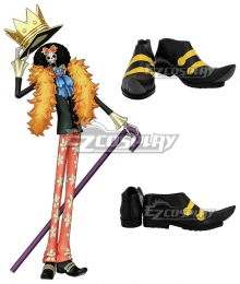 One Piece Brook Black Cosplay Shoes