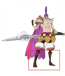 One Piece Charlotte Cracker   Brown Shoes Cosplay Boots
