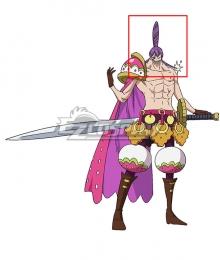 One Piece Charlotte Cracker   Purple Cosplay Wig