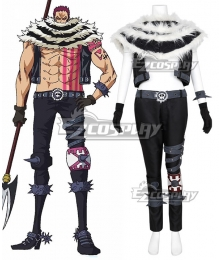 One Piece Charlotte Katakuri Cosplay Costume - No Prop Accessories