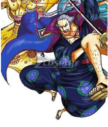 One Piece Denjiro Kyoshiro Purple Cosplay Wig