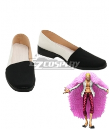 One Piece Donquixote Doflamingo Black White Cosplay Shoes