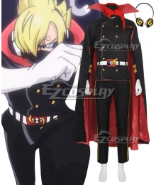 One Piece Germa 66 Sanji Vinsmoke Red Cosplay Costume