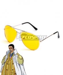 One Piece Kizaru Borsalino Glasses Cosplay Accessory Prop