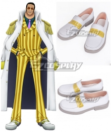 One Piece Kizaru Borsalino White Cosplay Shoes