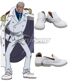 One Piece Monkey D Garp White Cosplay Shoes