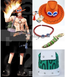 One Piece Portgas D Ace Cosplay Bag+Knife