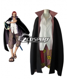 "One Piece ""Red-Haired"" Shanks Two Years Latter Cosplay Costume"