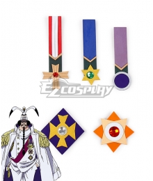 One Piece Sengoku Badge Cosplay Accessory Prop