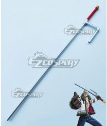 One Piece Smoker Seastone-tipped Jitte Cosplay Weapon Prop