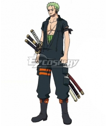 One Piece: Stampede 2019 Movie Roronoa Zoro Cosplay Costume
