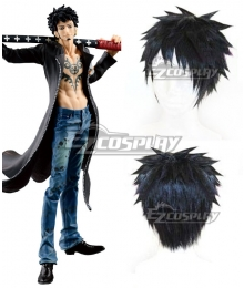 One Piece Trafalgar D. Water Law Black Cosplay Wig