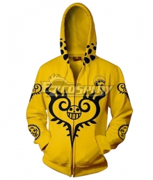 One Piece Trafalgar D Law Golden Hoodie Cosplay Costume