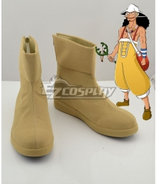 One Piece Usopp Yellow Shoes Cosplay Boots