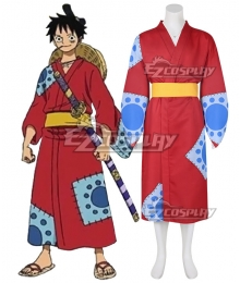 One Piece Wano Country Arc Monkey D Luffy Kimono Cosplay Costume