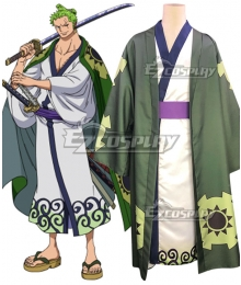 One Piece Wano Country Arc Roronoa Zoro Kimono Cosplay Costume
