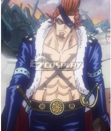 One Piece X· Drake Orange Cosplay Wig