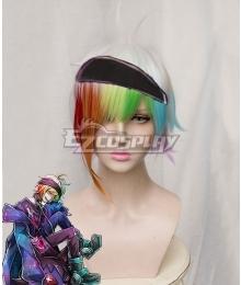 Ookami Game Wolf Game Iida Rintarou White Multicolour Cosplay Wig
