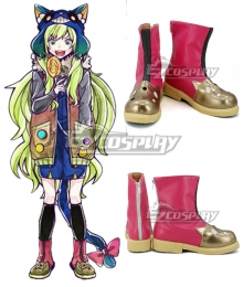 Ookami Game Wolf Game Kamiki Ritsu Red Golden Cosplay Shoes
