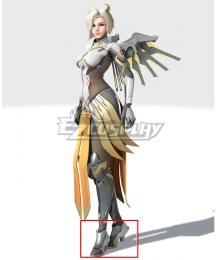 Overwatch 2 OW Mercy Grey Cosplay Shoes