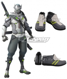 Overwatch 2 Shimada Genji Grey Cosplay Shoes