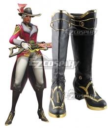 Overwatch Ashe Socialite Skin Ashe Black Cosplay Boots