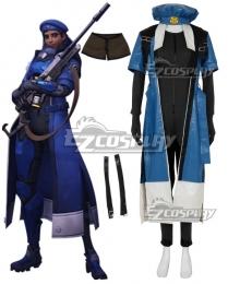 Overwatch OW Ana Amari Captain Amari Cosplay Costume