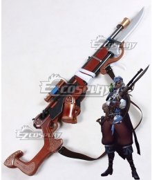 Overwatch OW Ana Amari Pirate Ana Gun Cosplay Weapon Prop