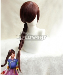 Overwatch OW D.Va DVa Hana Song Palanquin Brown Cosplay Wig
