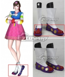 Overwatch OW D.Va DVa Hana Song Palanquin Purple Cosplay Shoes