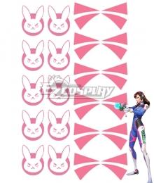 Overwatch OW D.Va DVa Hana Song Tattoo sticker Cosplay Accessory Prop